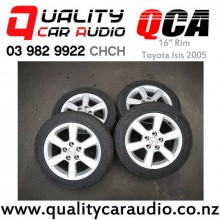 """16"""" Rims for Toyota Isis 2005 with Dunlop Tyre x4 with Easy Finance"""