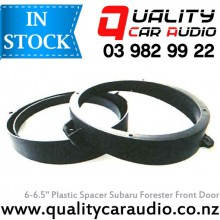 """6"""" / 6.5"""" Subaru OEM Front Door Plastic Speaker Adapters (Pair) with Easy LayBy"""