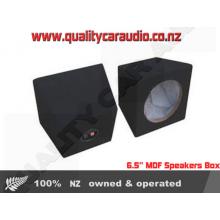 "6.5"" MDF Black Carpet, Wires Connector Terminal Speakers Box"