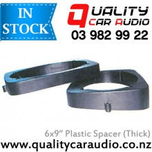 """QCA 6x9"""" Quality Thick Car Speaker Plastic Spacer in Black Color (Pair) with Easy Layby"""