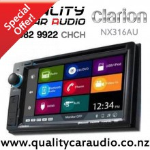 "Clarion NX316AU 6.2"" Navigation Bluetooth DVD USB Aux NZ Tuners 3x Pre Outs Car Stereo with Easy Layby"