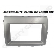 QCA 95-7593 Mazda MPV 2006 onward Facia kits for Double Din Size Stereo with Easy Layby