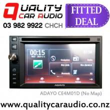 "ADAYO CE4M01D 6.2"" Navigation Bluetooth DVD USB  Head Unit with Basic Installation"