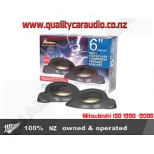 "Aerpro APF62BL 6"" (152mm) Black Vinyl Fibreglass Component Speaker Spacers"