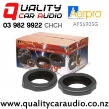 """Aerpro APS690SG 6x9"""" Rear Mount Angled Car Speaker Spacers (Grey) with Easy Finance"""