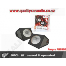 """Aerpro PB6902 6x9"""" 12mm MDF Ported Speaker Boxes In Black Carpet (Pair) with Easy Layby"""