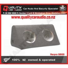 "Aerpro SB10D SEALED 10"" 254MM DUAL SUB BOX - Easy LayBy"