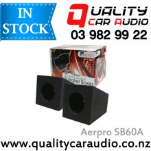 """Aerpro SB60A 6"""" / 6.5"""" 12mm MDF Sealed Speakers Box in Black Carpet (Pair) with Easy Layby"""
