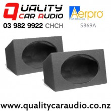 "Aerpro SB69A 6x9"" 12mm MDF Sealed Speaker Boxes in Black Carpet (pair) with Easy Finance"