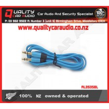 AL3535BL 3.5mm to 3.5mm AUX Lead Blue