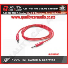 AL3535RD 3.5mm to 3.5mm AUX Lead Red - Easy LayBy