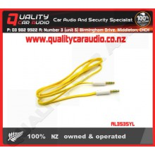 AL3535YL 3.5mm to 3.5mm AUX Lead Yellow - Easy LayBy