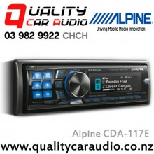 Alpine CDA-117E CD USB Aux NZ Tuners iPod Digital Time Correction 3x Pre Outs - Fitted Special Deal