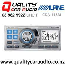 Alpine CDA-118M iPod CD USB 3x Pre Outs Marine Media Receiver with Easy Finance