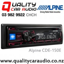 Alpine CDE-150E CD USB AUX NZ Tuners 2x Pre Outs Car Stereo with Easy LayBy