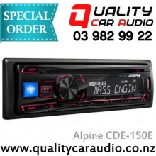 Alpine CDE-150E CD USB AUX NZ Tuners 2x Pre Outs with Easy Layby
