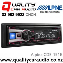 Alpine CDE-151E CD, USB, Aux, 2x Pre-outs Car Stereo with Easy LayBy