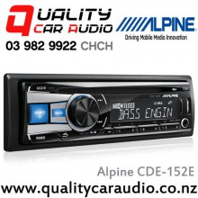 Alpine CDE-152E CD, USB, Aux, 3x Pre-outs Stereo with Easy LayBy