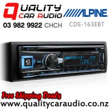 Alpine CDE-163EBT Bluetooth CD USB AUX iPod NZ Tuners 3x Pre Outs with Easy Layby