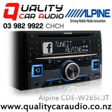 Alpine CDE-W265EBT Bluetooth CD USB AUX iPod NZ Tuners 3x Pre Outs Car Stereo with Easy LayBy