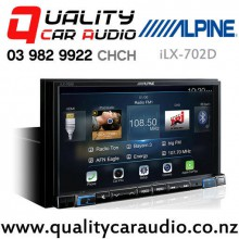 Alpine iLX-702D Bluetooth Apple CarPlay Android Auto USB NZ Tuner 3x Pre Outs Car Stereo with Easy Finance