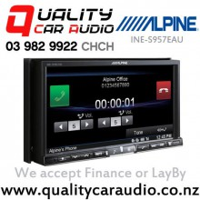 "Alpine INE-S957EAU 7"" Navigation DVD USB Apple Android Compatible Car Stereo with Easy LayBy"