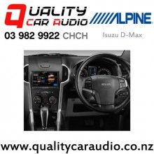 """Alpine Isuzu D-Max 8"""" Fascia Kit and ISO wiring 2012 on with Easy Finance"""