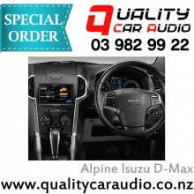 """Alpine Isuzu D-Max 8"""" Fascia Kit and ISO wiring 2012 on - Easy LayBy"""
