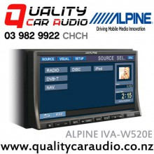 "Alpine IVA-W520E 7"" DVD/CD/MP3/WMA/AAC iPhone Compatible Car Stereo with Easy LayBy"