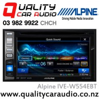 "Alpine IVE-W554EBT 6.2"" Bluetooth DVD USB AUX iPod NZ Tuners 3x 4V Pre Outs with Easy LayBy"