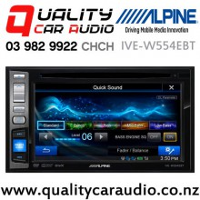 """Alpine IVE-W554EBT 6.2"""" Bluetooth DVD USB AUX iPod NZ Tuners 3x 4V Pre Outs Car Stereo with Easy Finance"""