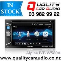 "Alpine IVE-W560A 6.2"" Bluetooth DVD ipod USB AUX NZ Tuners 2x Pre Outs with Easy LayBy"