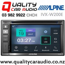 Alpine IVX-W200E Bluetooth USB AUX CD NZ Tuners 2x Pre Outs Car Stereo with Easy Payments