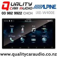 "Alpine iXE-W400E 7"" Bluetooth iPhone/iPod Support USB AUX  NZ Tuner 3x Pre Outs Car Stereo with Easy Finance"