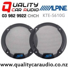 "Alpine KTE-S65G 6.5"" Speaker Grille for Alpine S-S65 and S65C  (pair)"