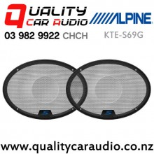 "Alpine KTE-S69G 6x9"" S Series Speaker Grille (pair) with Easy Finance"