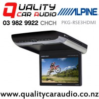 """Alpine PKG-RSE3HDMI 10.1"""" Roof Mount Video Monitor with DVD Player and Dual HDMI Inputs with Easy Finance"""