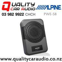 """Alpine PWE-S8 8"""" 240W (120W RMS) Under Seat Active Car Subwoofer with Easy Payments"""