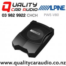 "Alpine PWEV80 Slimline 8"" 160W (100W RMS) Powered Car Subwoofer (Incl wiring kits) with Easy Finance"