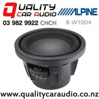 "Alpine R-W10D4 10"" 2250W (750W RMS) Dual 4 ohm Voice Coil Car Subwoofer with Easy Finance"