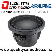 """Alpine R-W10D4 10"""" 2250W (750W RMS) Dual 4 ohm Voice Coil Car Subwoofer with Easy Finance"""