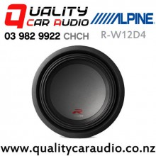 "Alpine R-W12D4 12"" 2250W (750W RMS) Dual 4 ohm Voice Coil Car Subwoofer with Easy Finance"