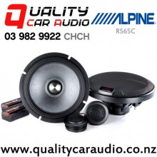 "Alpine R-S65C 6.5"" 300W (100W RMS) 3 Way Component Car Speakers with Easy LayBy"