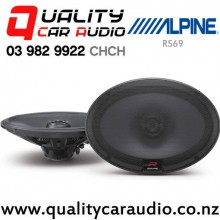"Alpine RS69 6x9"" 300W (100W RMS) 2 Way Coaxial Car Speakers with Easy LayBy"