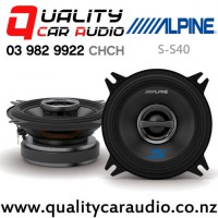 "Alpine S-S40 4"" 140W (45W RMS) 2 Way Coaxial Car Speakers (pair) with Easy Finance"