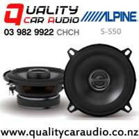 "Alpine S-S50 5.25"" 170W (55W RMS) 2 Way Coaxial Car Speakers (pair) with Easy Finance"