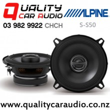 """Alpine S-S50 5.25"""" 170W (55W RMS) 2 Way Coaxial Car Speakers (pair) with Easy Finance"""