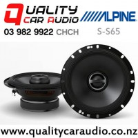 """Alpine S-S65 6.5"""" 240W (80W RMS) 2 Way Coaxial Car Speakers (pair) with Easy Finance"""