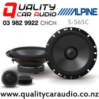 """Alpine S-S65C 6.5"""" 240W (80W RMS) 2 Ways Component Car Speakers (pair) with Easy Finance"""