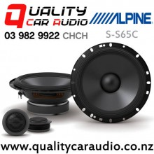 "Alpine S-S65C 6.5"" 240W (80W RMS) 2 Ways Component Car Speakers (pair) with Easy Finance"
